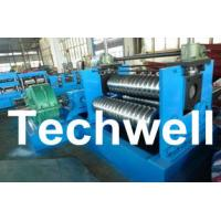 0.25 - 4.0mm 3 Sets Rollers Corrugated Sheet Bending Machine With 0 - 10m/min Speed Manufactures
