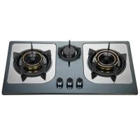 Buy cheap Stainless Steel Top Panel LPG Gas Hob , Three Burner Gas Stove With Brass Cap from wholesalers