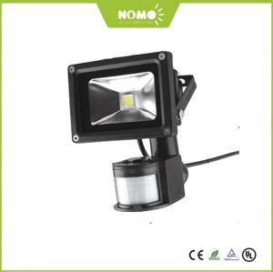 China New CE ROHS  EMC LVD IP65 10W 50W Outdoor COB LED Flood Light with PIR Motion Sensor on sale