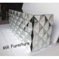 Quality 3D Faceted Mirrored Bedroom Chest With 8 Drawers Wooden Material Body for sale