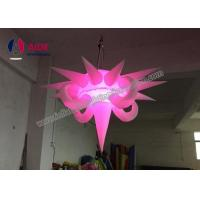 Blow Up Aska Lighting Tower Hanging Inflatable Stars Party Decoration Polygon Shape Manufactures