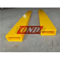 Yellow Color PU Material Forklift Forks Protective Covers Sleeves Manufactures