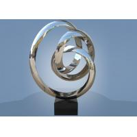 Large Size Stainless Steel Sculpture Circle Around For Hotel / Public Decoration Manufactures