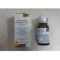 Albendazole Syrup 400mg / 10ml Treatment of Giardia Oral Suspension Drugs Manufactures