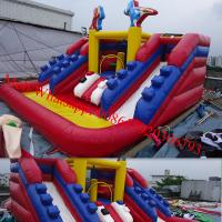 plastic water slide inflatable bouncy castle with water slide Manufactures
