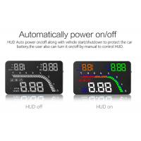 Multicolor 4 Inch Windshield Heads Up Display LED Speedometer OBD2 Interface Manufactures