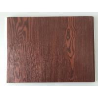 Fireproof  PVC Garage Wall Panels With Wooden Lamination Width 40cm Manufactures