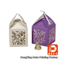 Laser Cut Delicate Custom Printed Packaging Boxes , Purple Small Wedding Favor Boxes Manufactures