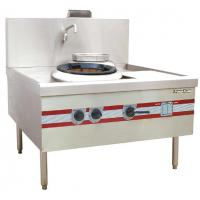 Environmental Chinese Cooking Stove Quiet Turbo Wok Range 1200 x 1220 x (810+450) mm Manufactures