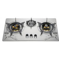 72cm Three Burner Gas Cooktop , Stainless Steel 3 Burner Gas Stove For Kitchen Manufactures