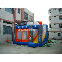 Outdoor Kids Inflatable Bouncer Sport Theme Inflatable Bouncy Castle With Slide Manufactures