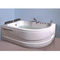 Double people whirlpool  / jacuzzi indoor massage white color hot tub Manufactures