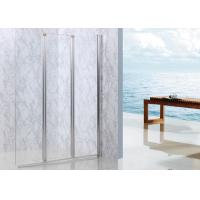 Bi - Folding Shower Walk In Enclosures Straight Style Three Clear Glass Screen Manufactures