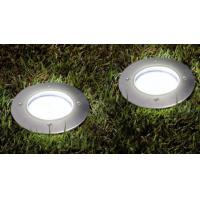 2.4lm - 25 Lm Underground Solar Deck Lights Waterproof With Rechargeable Battery Manufactures