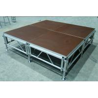 Aluminum Folding Movable Stage Platform with 18mm thickness Anti-slip Plywood Manufactures