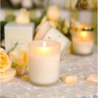 China Christmas souvenir glass candle jars with customized logo on sale