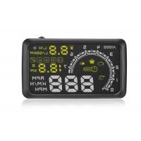 "OBD2 Vehicle Heads Up Speed Display W02 5.5 Inch Rotating Speed 5000r RPM Alarm 5.5 "" Screen Manufactures"