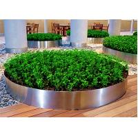 Mirror Polished Round Planter Boxes Stainless Steel OEM / ODM Available Manufactures
