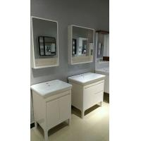 Buy cheap PVC Bathroom Cabinet LED Lamp Mirror cabinet Ceramic Basin 80cm from wholesalers