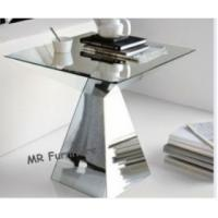 Quality Modern Mirror Tables Furniture Steel Base Living Room Mirrored Accent Table for sale
