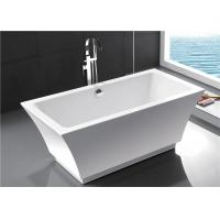 Fashionable Indoor Small Freestanding Bathtub , Oval Soaking Tub For 1 Person Manufactures