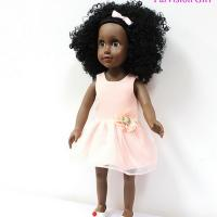 Buy cheap 18 Inches  vinyl African American dolls with fashion dress from wholesalers