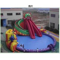 0.9mm PVC Inflatable Water Park Amusement Water Park With Slide / Tower Manufactures
