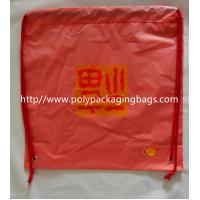 Recyclable Plastic Backpack Sports Drawstring Bags For Hiking / Travel Manufactures
