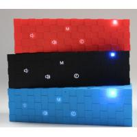 Portable Cube Bluetooth Speaker with Flashing Led Lights Red / Blue / Black outdoor speaker Manufactures
