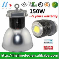 IP65 Bridgelux AC90 - 295V 150W LED High Bay Light For Factory Manufactures
