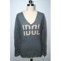 Women Long Sleeve Intarsia Knit Sweater , Deep V Cashmere Sweater Raw Edge Neck Manufactures