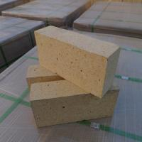 Customized Size Heat Resistant Bricks , High Alumina Fire Bricks Natural Yellow Color Manufactures