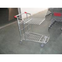 Store supermarket Warehouse Cargo Trolley with foldable platform and 5 inch casters Manufactures