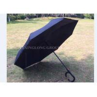 Quality Latest Unbreakable Reverse Folding Umbrella / Double Canopy Golf Umbrella for sale