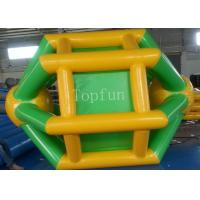 Yellow / Green 3 * 2.8m Inflatable Water Wheel For Adult / Kids Summer Use Manufactures