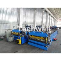 Automatic PLC Controlled Tile Roll Forming Machine For Steel Metal Glazed Tile Manufactures