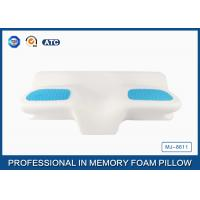 Unique Gel Memory Foam Wedge Pillow , 25.6X14.17X5.51 Inch Cooling Gel Bed Pillow Manufactures