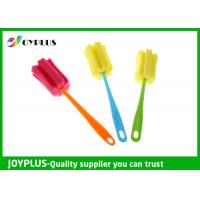 Multi Colors Home Cleaning Tool Bottle Sponge Brush OEM / ODM Available Manufactures