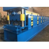 Guard Rail Crash Barrier Roll Forming Machine 27.5KW Hydraulic Punching Device Manufactures
