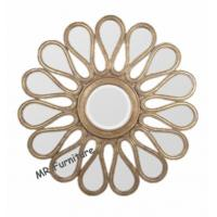 Mosaic Shell Mirrored Metal Wall Art , Decorative Round Mirror Wall Art Manufactures