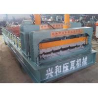 PPGI Roof Panel Roll Forming Machine , Corrugated Sheet Roll Forming Machine Manufactures