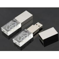 Quality Metal High Speed Crystal USB Flash Drive , Crystal Thumb Drive for sale