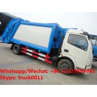 Quality HOT SALE! 2018s best seller-dongfeng 4*2 LHD 7m3 compression garbage compactor truck, garbage truck for Mongolia for sale