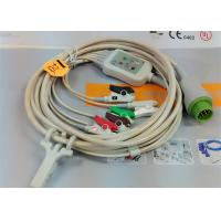 5 Leads Snap AHA ECG Patient Cable , Mindray 12 Pin One Piece ECG Cable Manufactures