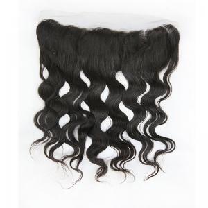 China Pure Raw Brazilian Human Hair Lace Closure / Silk Base Lace Frontal Closure on sale