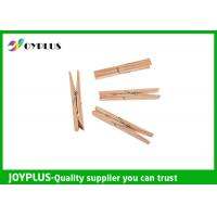 Safety Household Plastic Clothes Pegs Wooden Clips For Clothes OEM / ODM Available Manufactures