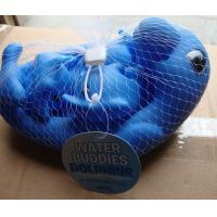 Quality 0-36 Month Kids Animal Bath ToysHarmless Rubber Dolphin Family Set Phthalate Free for sale