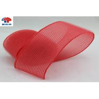 Red Nylon Heated Hook And Loop Hair Rollers / Hair Band For Women , Self Grip Manufactures