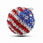 Crystal Stone/Swarovski Strawberry Pendant, Italian Style Manufactures
