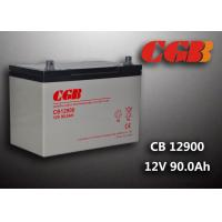 12V 90ah Solar System Battery , CB12900 Agm Battery Low Self Discharge Manufactures